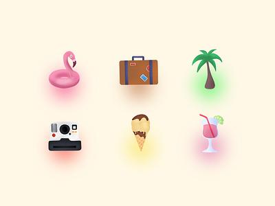 Holidays icons procreate pencil ipad ssilbi illustration holiday icons
