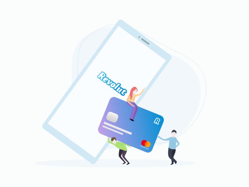 Revolut - Illustration card mobile revolut bank gradient vector dribbble illustration design ui ssilbi