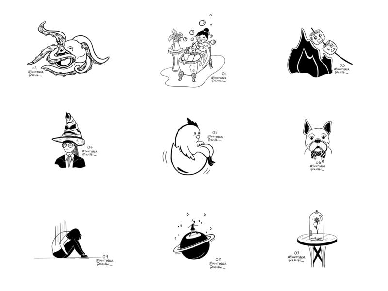 Inktober - Part 1 ipad pencil procreate ink illustration ssilbi inktober 2018 illustration challenge