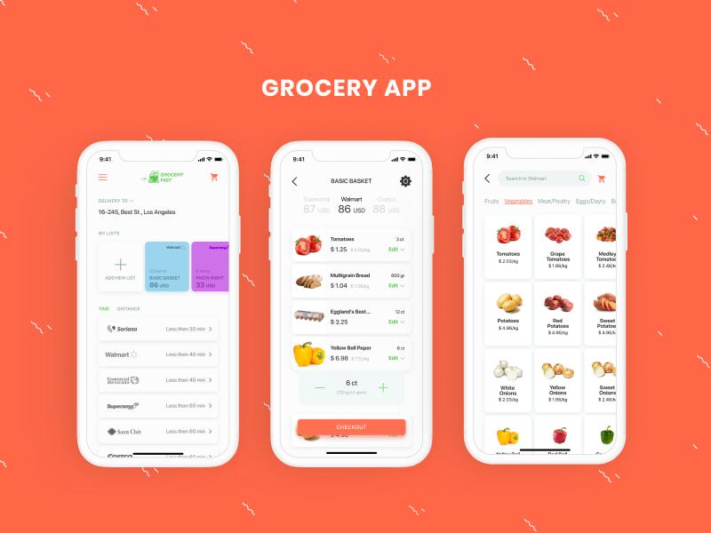 Grocery App supermarket challenge dailyui app grocery