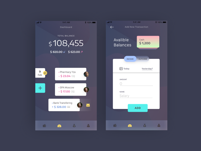 Budget App ux ui daily app financial budget
