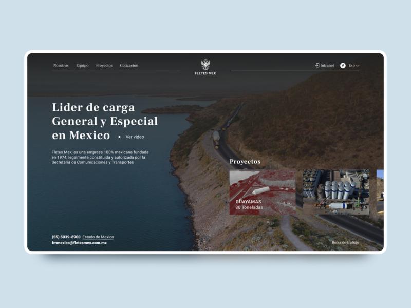Home page concept industrial logistic web  design web transportation transport design dailyui daily ux ui