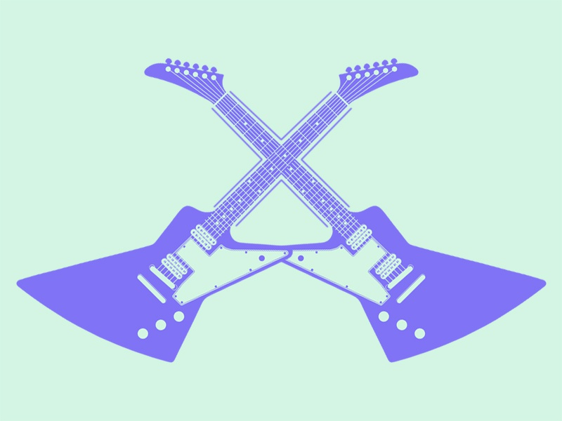 Xplorer design flat typehue week 24: x guitar minimal illustration explorer x typehue