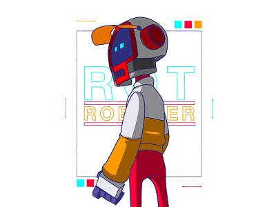 ROT ROBOTER cyberpunk xhyle design character design 2d illustration vector adobe illustrator
