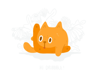 Bill Buttlicker floral first shot ipad illustration cat