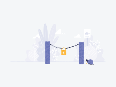 No Access shopify illustration turtle sign no access