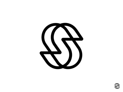 S mark logotype logo circles monogram