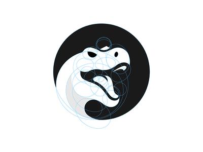 Trex trex dinosaur dino grid logo