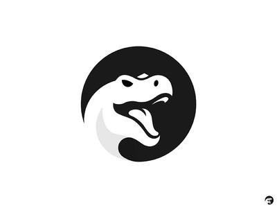 Trex sans grid mark logo negative space animal dinosaur dino trex