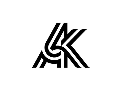 Ak letter logotype typography type ak k a branding monogram mark logo