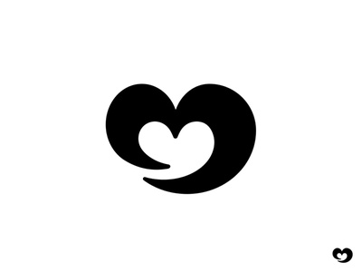Heart heart logotype mark logo