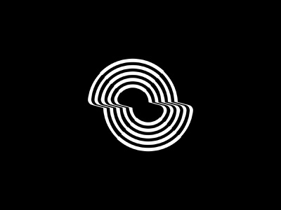 Double logos mark logo lines ocean circle illusion