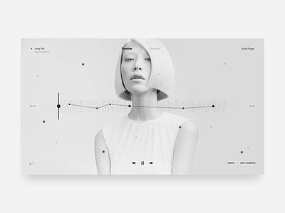 Custom Music Player Experience – Light Mode waveform music ui ui design user interface music player minimalistic sound wave