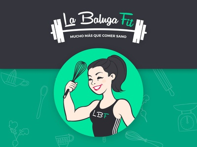 Baluga Fit Logo foddie food logo disigner branding agency health identity brand fit fitness design logo gym