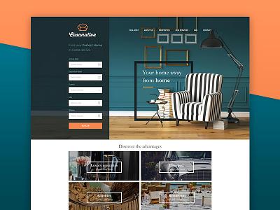 Casanative ux ui property house travel real estate search home website web design