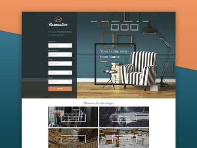 Casanative ux ui property house travel real estate search home website web design