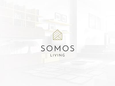 Logo Somos Living furniture home logo living infinite identity brading brand
