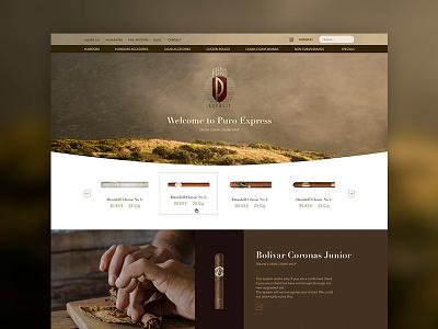 Puro Express cart shop home rebrand redesign design web elegant e-commerce