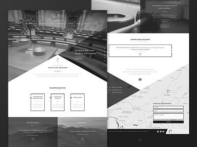 Garcia Luna Lawyers elegance landing legal law lawyer design web