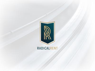 Radical Rent rent radical luxury race car logo identity brading brand