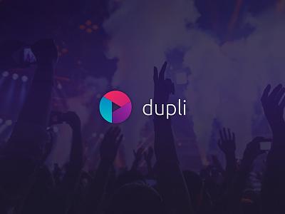 Logo Dupli flat flatdesign gradient colorful gopro play logo identity brading brand