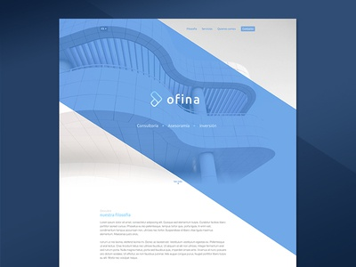 Landing Page flat modern abstract logo identity branding brand screen blue page landing