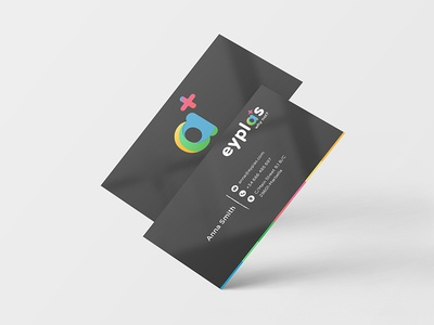 Business cards for Eyplas stationary cards bussiness card gradient creative colorful color brand branding visual identity identity logo