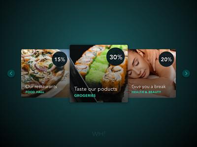What's hot! voucher offer discount card design ui ux web design website web