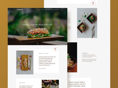 Restaurant Website for Tanarasa, Bali
