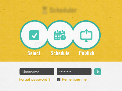 Application login page