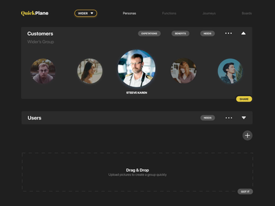 QuickPlane - Key UX Elements in one place