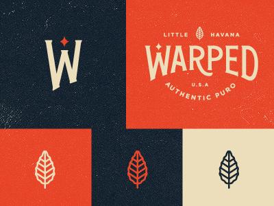 Warped - Identity Preview 01 smith blksmith branding logo icon identity texture