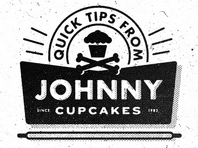 Johnny Cupcakes Tips smith blksmith texture illustration typography vintage halftone donuts cupcakes johnnycupcakes