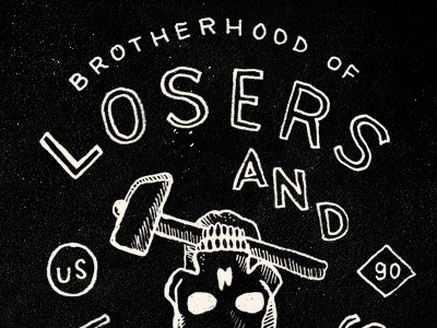 Losers smith blksmith type typography lettering illustration vintage tshirt shirt handmade herocollective