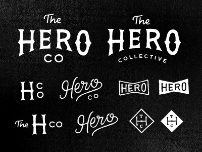 Hero Collective blksmith smith logo identity stamp type lettering vintage handmade