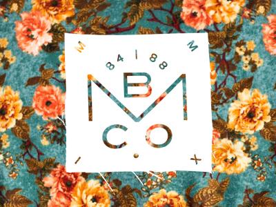MBCO. Floral blksmith smith floral emblem flag