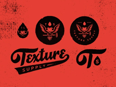 Texture Supply - Identity smith blksmith type logo texture lettering