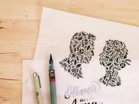 Floral inking
