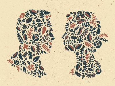 Floral silhouette