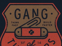 Gang of Tinkerers blksmith illustration texture crest shield emblem dropbox