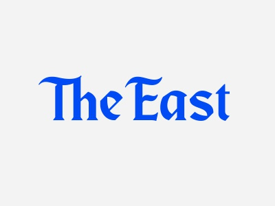 The East nameplate blackletter blksmith