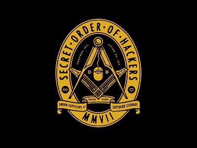 Secret Order - Scooters mason illustration emblem dropbox scooters type badge blksmith