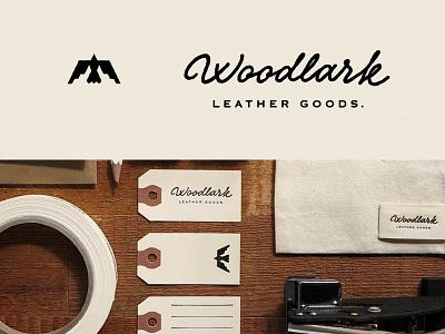 Woodlark - Collateral  branding icon leather mark logo blksmith