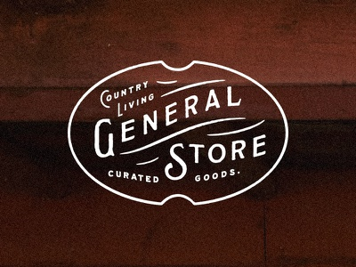 Country Living General lettering emblem badge type blksmith
