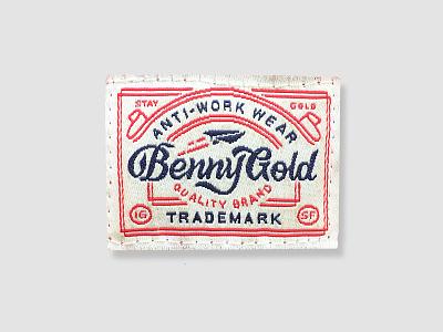 Anti-Work Wear type lock up label badge benny gold