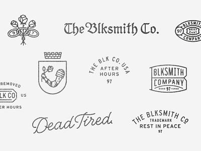 Blk Co Maker's Marks lock up logo stamp emblem badge makers marks blksmith