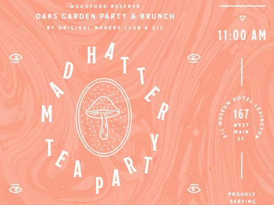 Mad Hatter  type layout event invite blksmith
