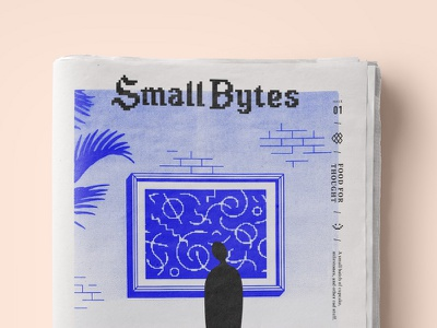 Small Bytes Issue 01 internet print newspaper zine dropbox