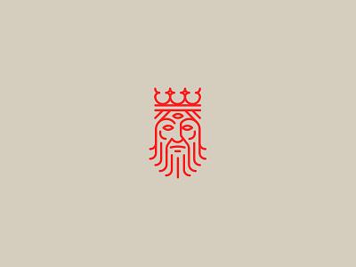 Unused King king logo mark blksmith