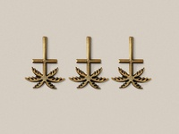 Blk cross pin6